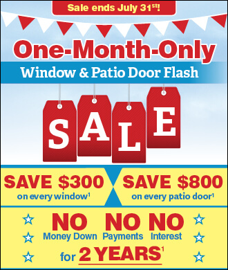 replacement window sale july 2018